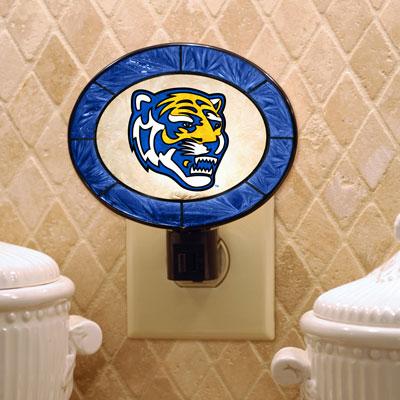 Memphis Tigers Art Glass Night Light