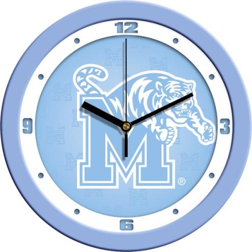 Memphis Tigers Baby Blue Wall Clock