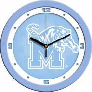 Memphis Tigers Baby Blue Wall Clock