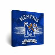 Memphis Tigers Banner Canvas Wall Art