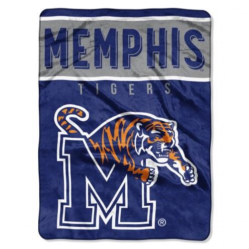 Memphis Tigers Basic Plush Raschel Blanket