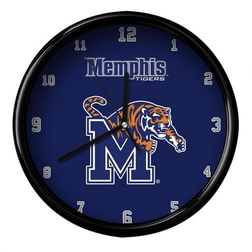 Memphis Tigers Black Rim Clock