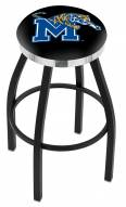 Memphis Tigers Black Swivel Barstool with Chrome Accent Ring