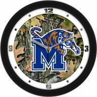 Memphis Tigers Camo Wall Clock