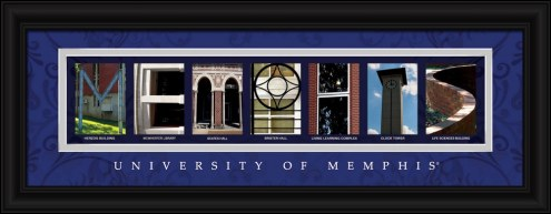 Memphis Tigers Campus Letter Art