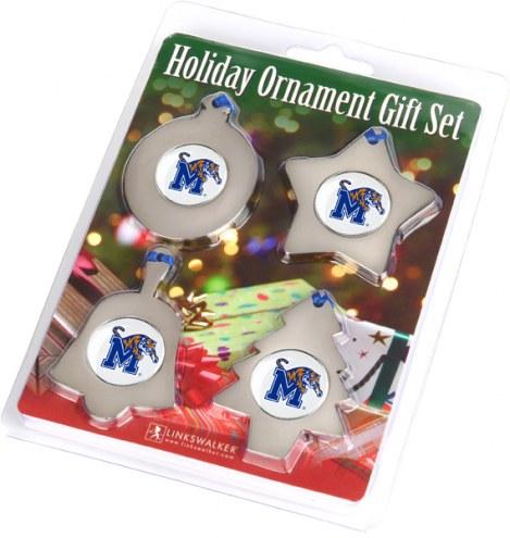 Memphis Tigers Christmas Ornament Gift Set