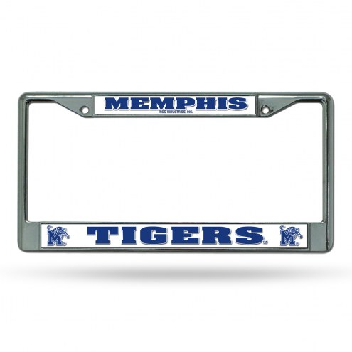 Memphis Tigers College Chrome License Plate Frame