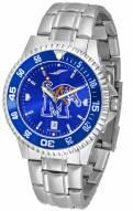 Memphis Tigers Competitor Steel AnoChrome Color Bezel Men's Watch