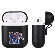 Memphis Tigers Fan Brander Apple Air Pods Leather Case