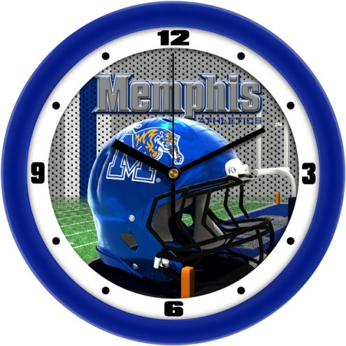 Memphis Tigers Football Helmet Wall Clock