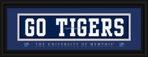 "Memphis Tigers ""Go Tigers"" Stitched Jersey Framed Print"