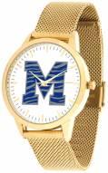 Memphis Tigers Gold Mesh Statement Watch