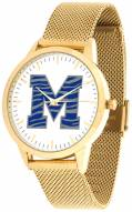 Memphis Tigers Gold Mesh Statement Watch