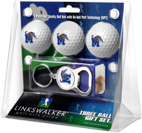 Memphis Tigers Golf Ball Gift Pack with Key Chain