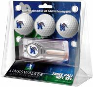 Memphis Tigers Golf Ball Gift Pack with Kool Tool