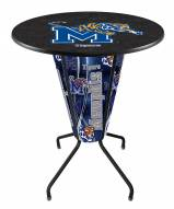 Memphis Tigers Indoor Lighted Pub Table