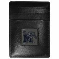 Memphis Tigers Leather Money Clip/Cardholder in Gift Box