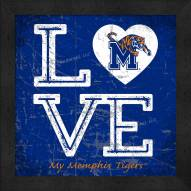 Memphis Tigers Love My Team Color Wall Decor