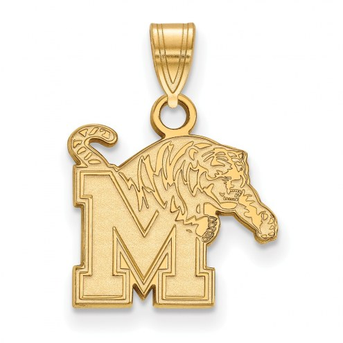 Memphis Tigers NCAA Sterling Silver Gold Plated Small Pendant