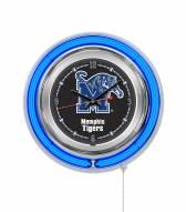 Memphis Tigers Neon Clock