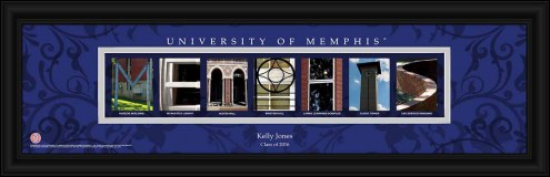 Memphis Tigers Personalized Campus Letter Art