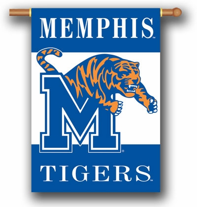 """Memphis Tigers Premium 28"""" x 40"""" Two-Sided Banner"""