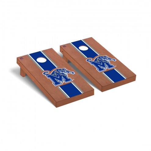 Memphis Tigers Rosewood Stained Cornhole Game Set