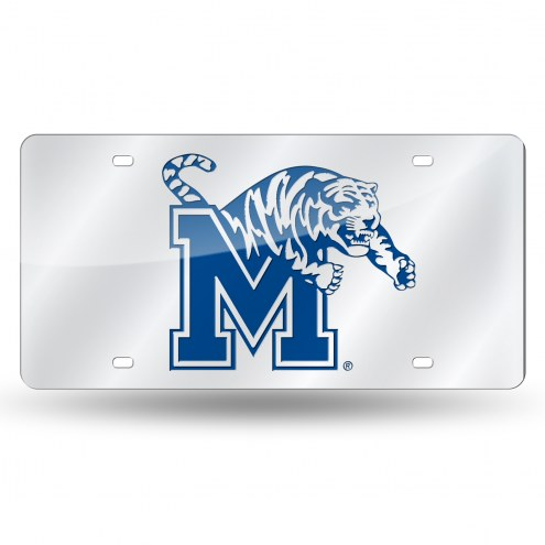 Memphis Tigers Silver Laser License Plate