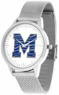 Memphis Tigers Silver Mesh Statement Watch
