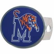 Memphis Tigers Class II and III Oval Metal Hitch Cover