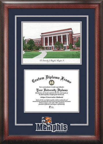 Memphis Tigers Spirit Diploma Frame with Campus Image