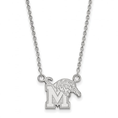 Memphis Tigers Sterling Silver Small Pendant Necklace