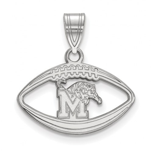 Memphis Tigers Sterling Silver Football Pendant