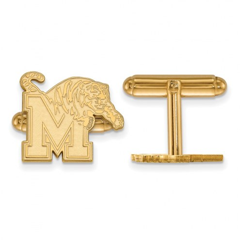 Memphis Tigers Sterling Silver Gold Plated Cuff Links