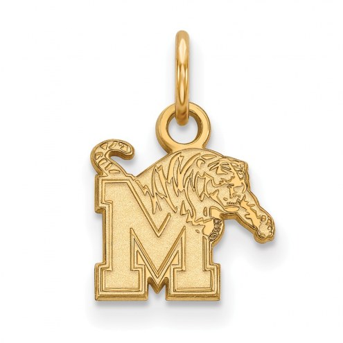 Memphis Tigers Sterling Silver Gold Plated Extra Small Pendant