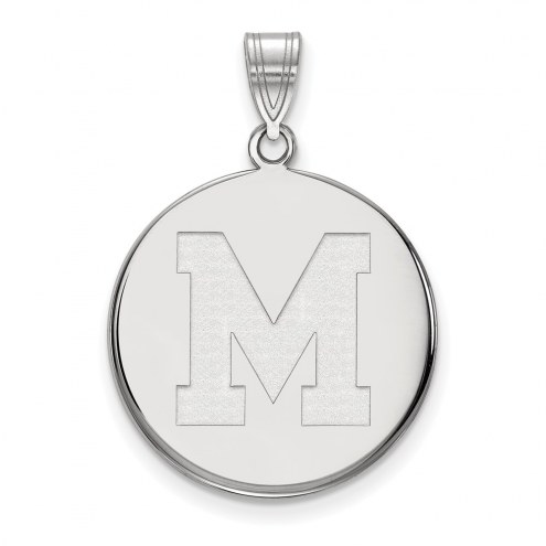 Memphis Tigers Sterling Silver Large Disc Pendant
