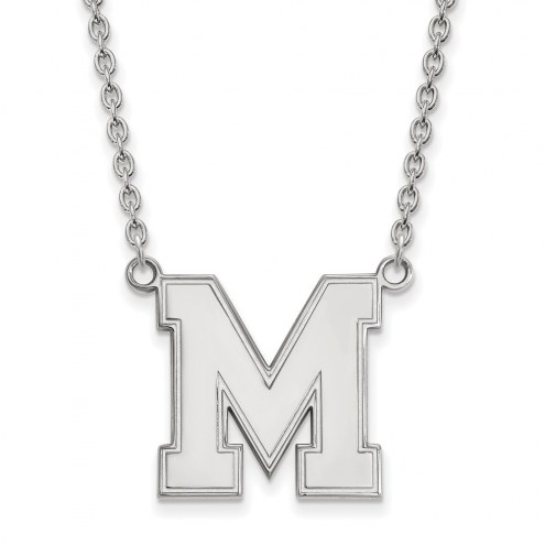 Memphis Tigers Sterling Silver Large Pendant Necklace