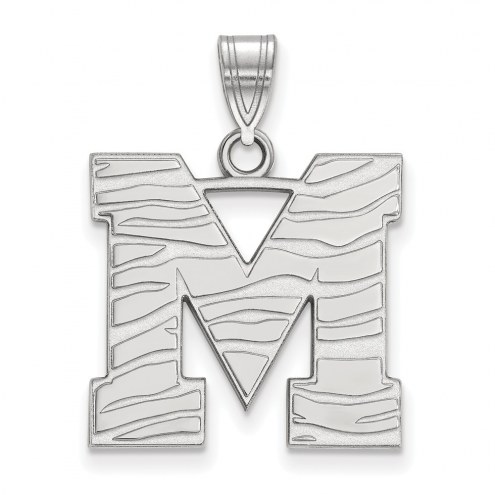 Memphis Tigers Sterling Silver Large Pendant