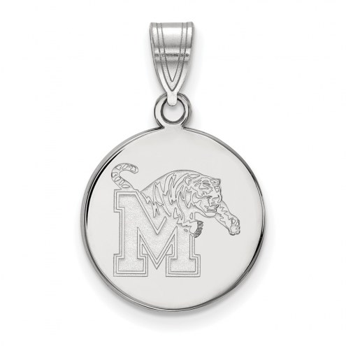 Memphis Tigers Sterling Silver Medium Disc Pendant