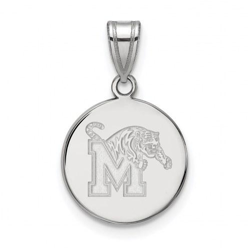 Memphis Tigers Sterling Silver Medium Pendant