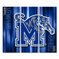 Memphis Tigers Triptych Rush Canvas Wall Art