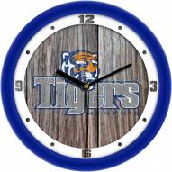 Memphis Tigers Weathered Wood Wall Clock