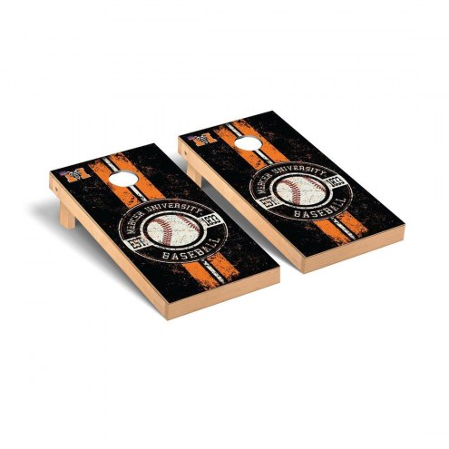 Mercer Bears Baseball Vintage Cornhole Game Set