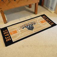Mercer Bears Basketball Court Runner Rug