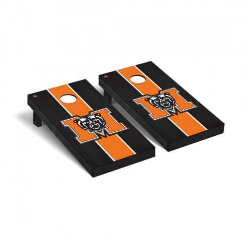 Mercer Bears Onyx Stained Cornhole Game Set