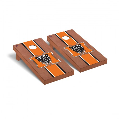 Mercer Bears Rosewood Stained Cornhole Game Set