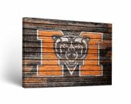 Mercer Bears Weathered Canvas Wall Art