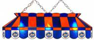"New York Mets MLB Team 40"" Rectangular Stained Glass Shade"