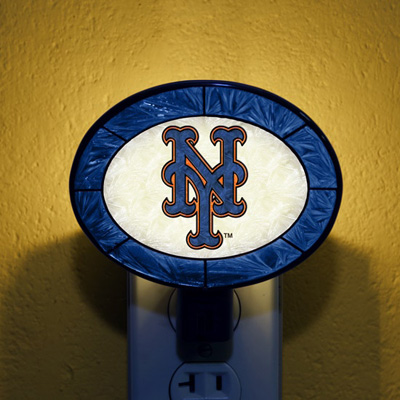New York Mets MLB Stained Glass Night Light