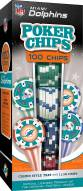Miami Dolphins 100 Piece Poker Chips